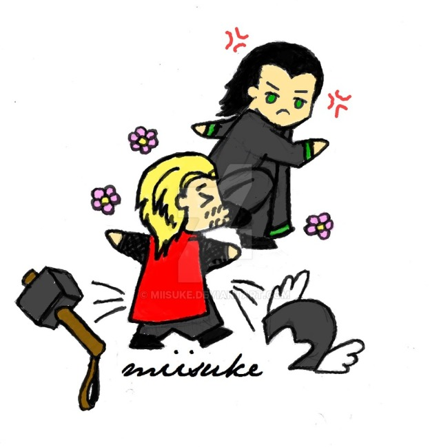 get_away_from_me___color____thor_x_loki__chibi__by_miisuke-d5fnc7q